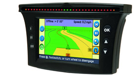 Assisted steering system the worlds first gps lightbar with color display mapping and steering capable of one inch accuracy aloadofball Images